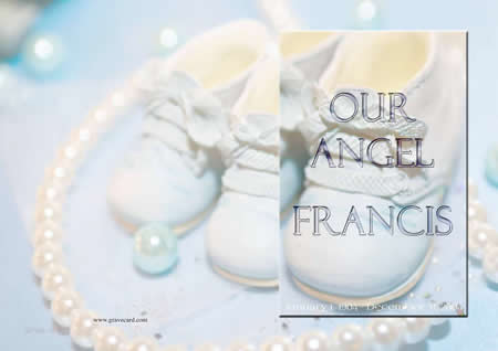 BABY BL outside  personalised card