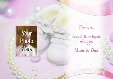BABY PK inside personalised card