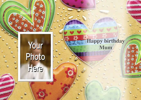 BIRTHDAY INSIDE  personalised card