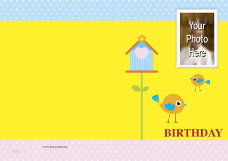 Baby BIRTHDAY OUTSIDE  personalised card