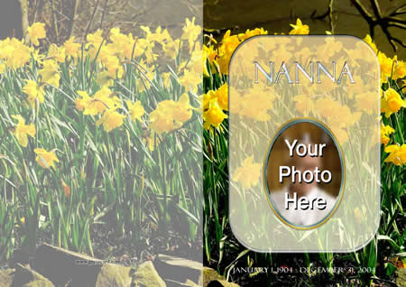 DAFFODIL outside  personalised card