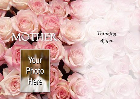 PINK ROSE inside personalised card